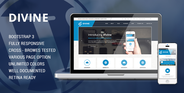 Divine Business HTML5 Template  - Corporate Site Templates