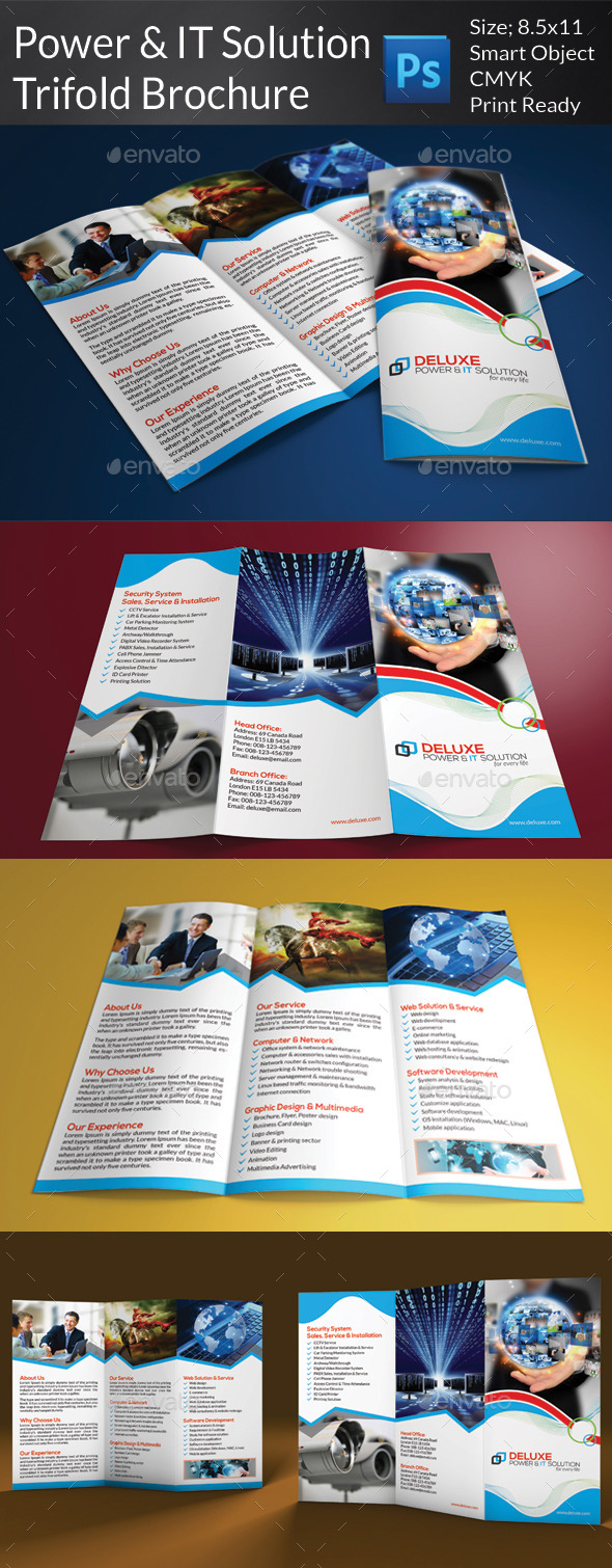Power & IT Solution Trifold Brochure - Corporate Brochures