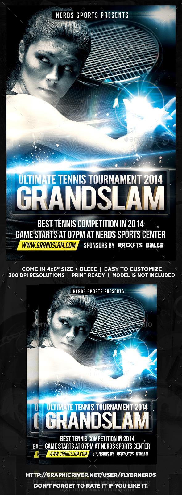 Tennis Tournament Flyer - Sports Events