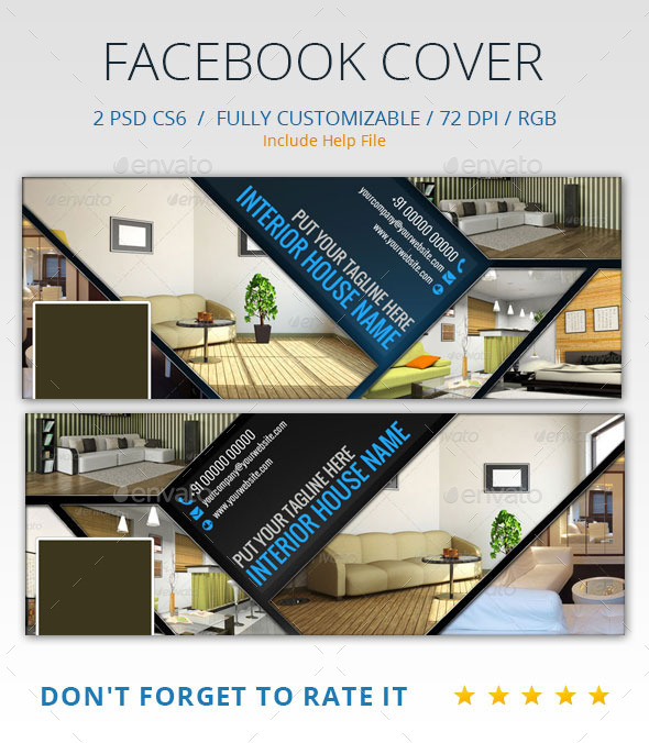 Interior design facebook cover by abira graphicriver for Home design ideas facebook