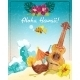 Hawaii Guitar Vacation Poster - GraphicRiver Item for Sale
