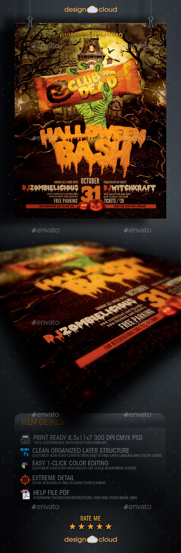 Halloween Bash Flyer Template - Holidays Events