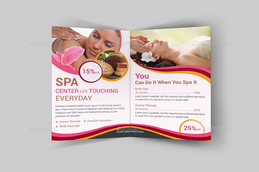 Spa & Beauty Saloon Bi-Fold Brochure Bundle   v4 by dotnpix ...