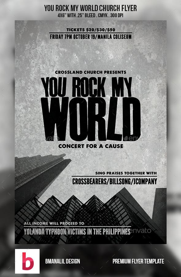 You Rock My World Church Flyer - Church Flyers