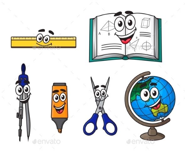 Cartoon School Supplies - Miscellaneous Characters
