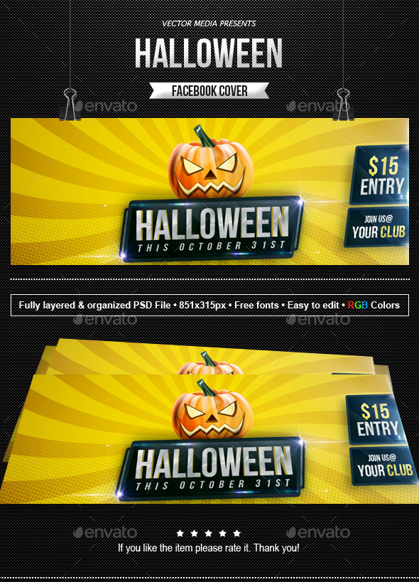 Halloween - Facebook Cover - Facebook Timeline Covers Social Media