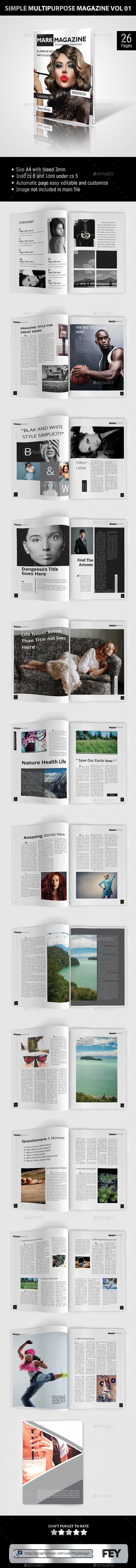 Simple Multipurpose Magazine Vol.01 - Magazines Print Templates
