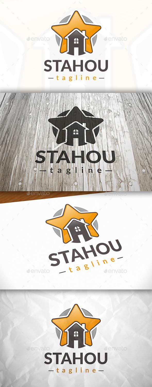 Star House Logo - Buildings Logo Templates