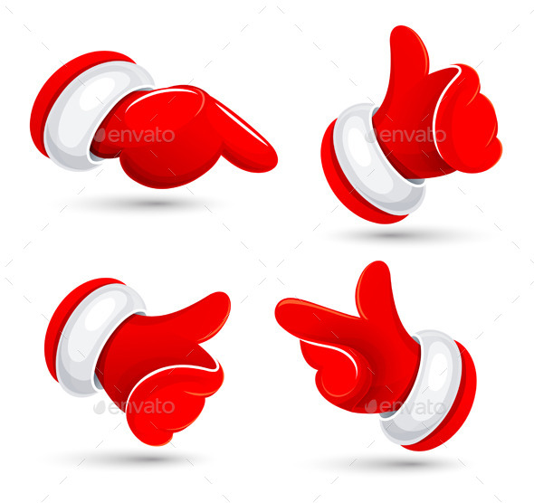 Santa's Hands. Vector Illustration. - Christmas Seasons/Holidays