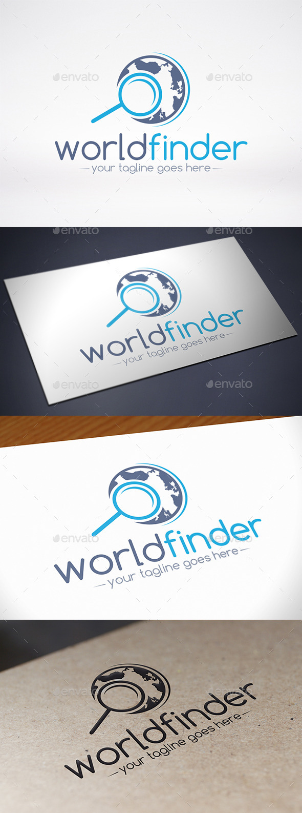 World Locator Logo Template - Symbols Logo Templates
