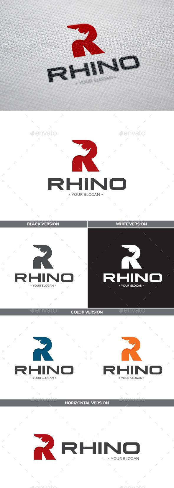 Rhino Logo - Letters Logo Templates