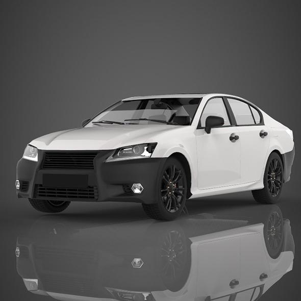 Sedan car - 3DOcean Item for Sale