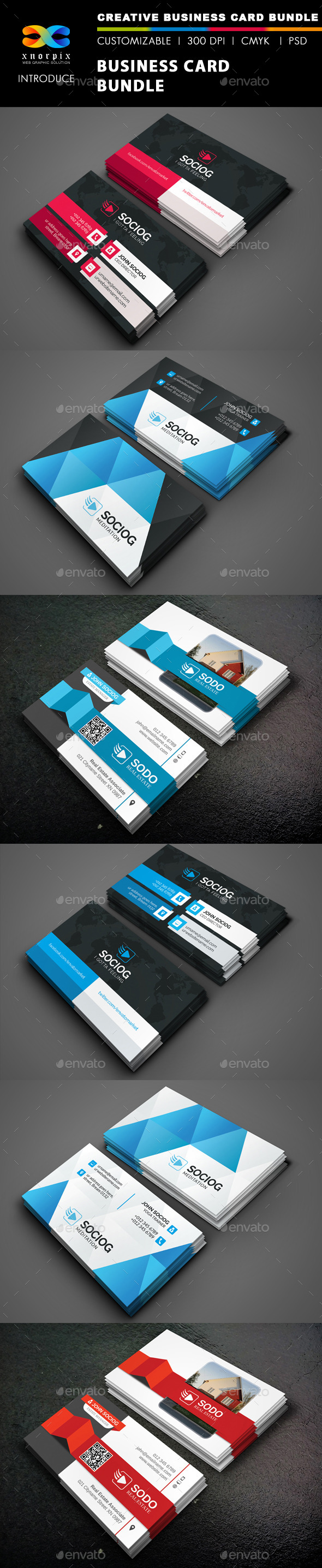 Business Card Bundle 3 in 1-Vol 43 - Corporate Business Cards