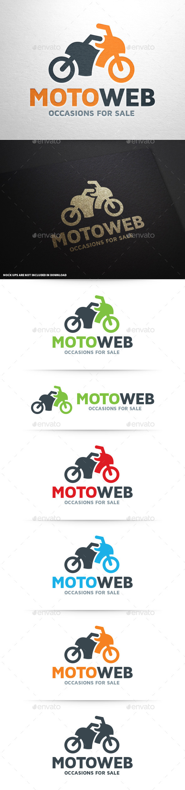 Moto Web Logo Template - Objects Logo Templates
