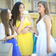 Three Happy Girls Discuss Their Shopping - VideoHive Item for Sale