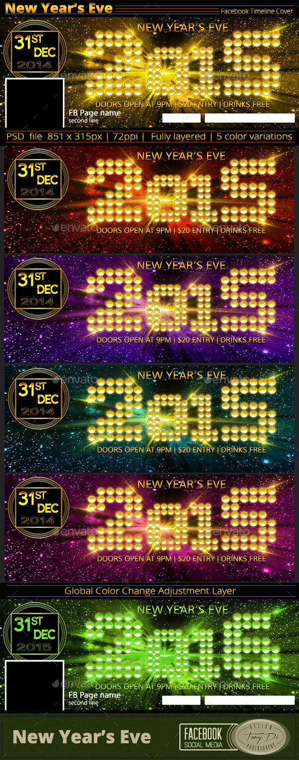 New Year's Eve Party | FB Timeline Cover - Facebook Timeline Covers Social Media