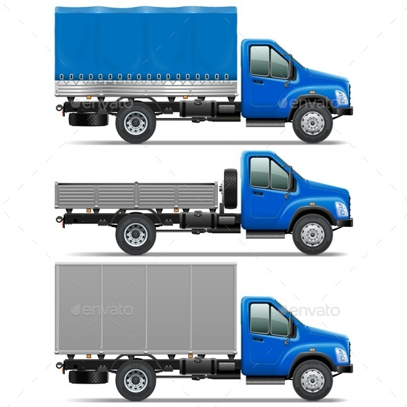 Lorry Icons Set 1 - Industries Business