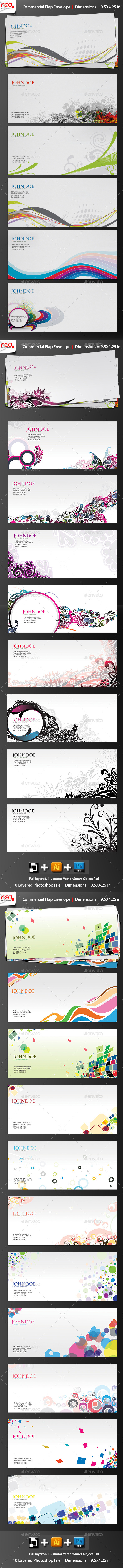 Print Ready Commercial Bussiness Envelop - Stationery Print Templates