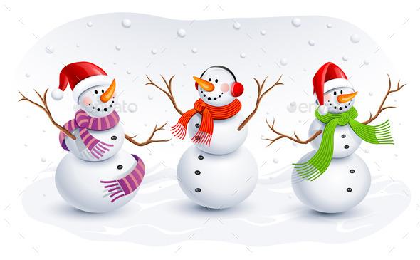 Snowmen - Christmas Seasons/Holidays