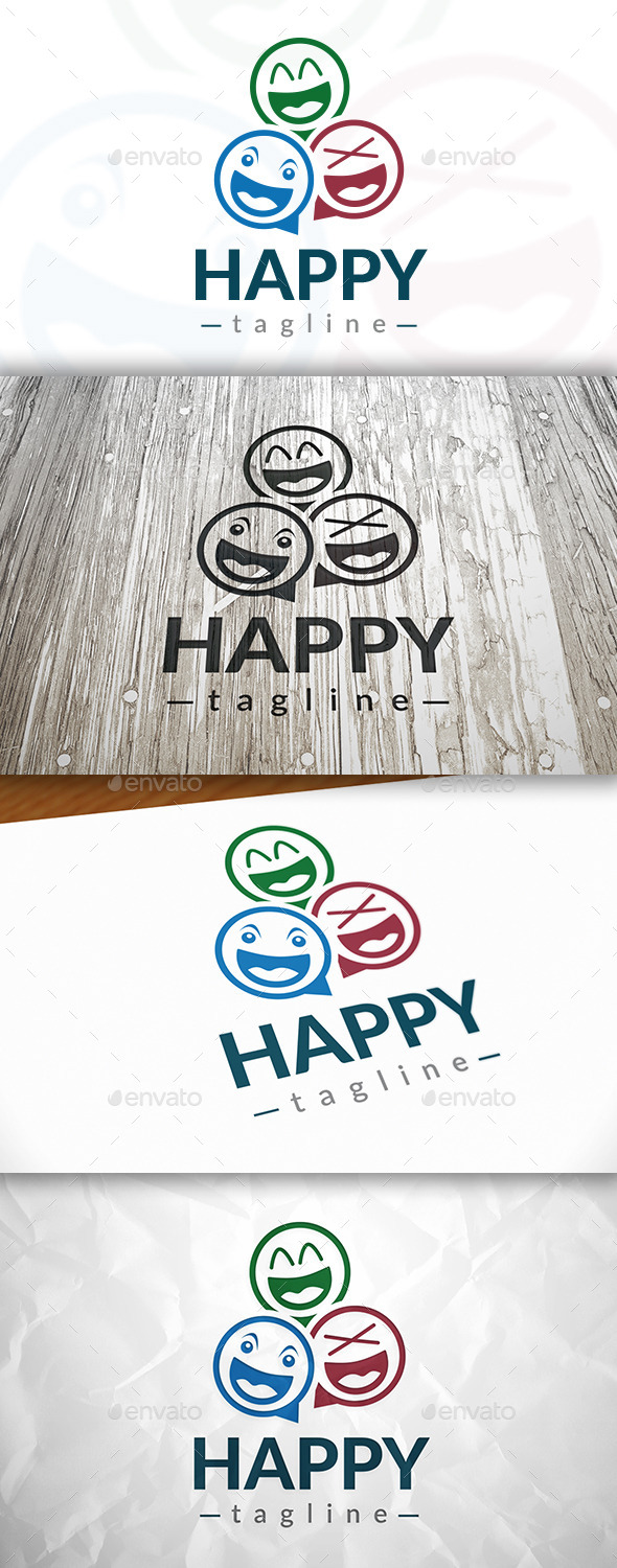 Happy Logo - Humans Logo Templates