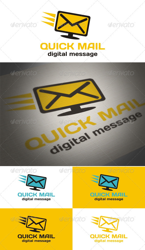 Quick Mail - Objects Logo Templates