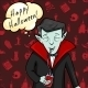 Halloween Postcard. Vampire with Bubble - GraphicRiver Item for Sale