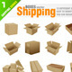 Shipping Boxes - GraphicRiver Item for Sale