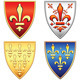 Vector French Shields with Arms of Fleur de Lis - GraphicRiver Item for Sale