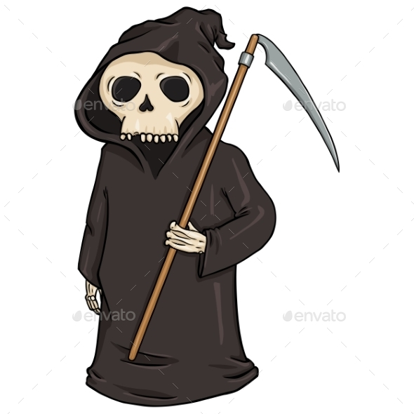 Cartoon Halloween Character - Death - Miscellaneous Vectors