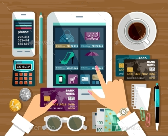 Shopping in Online Store Internet Shopping - Retail Commercial / Shopping