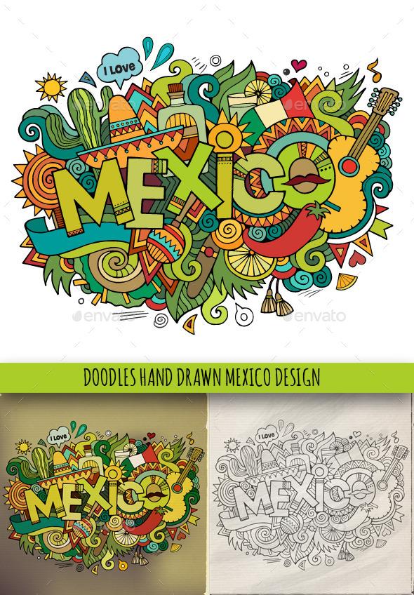3 Mexico Doodles - Travel Conceptual