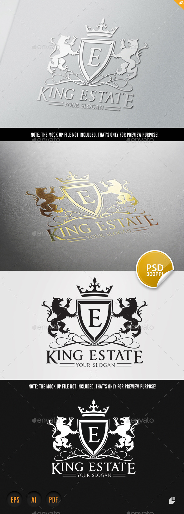 King Real Estate - Crests Logo Templates