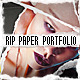 Rip Paper Portfolio - VideoHive Item for Sale