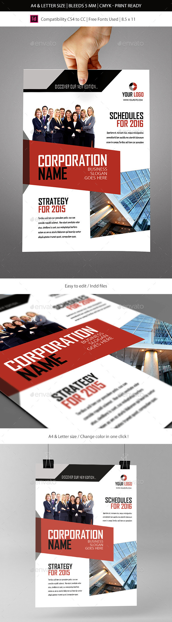 Corporate & Business Commerce Flyer Template - Informational Brochures