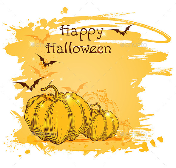 Halloween Background with Pumpkins - Halloween Seasons/Holidays
