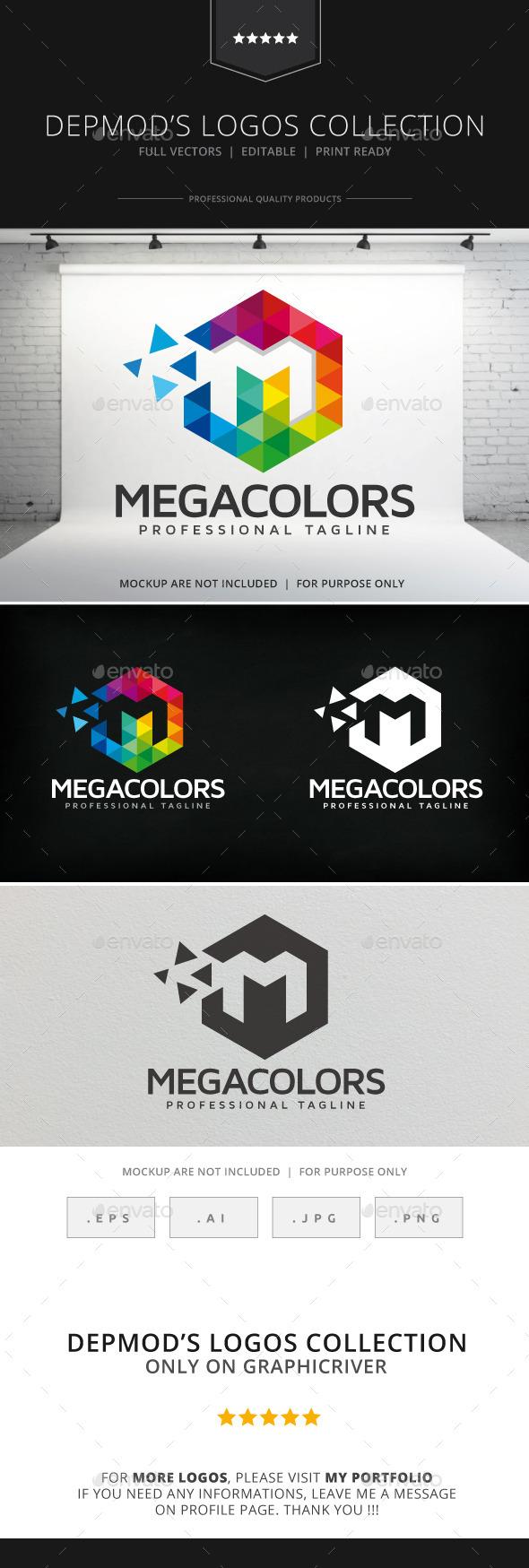 Mega Colors Logo - Letters Logo Templates