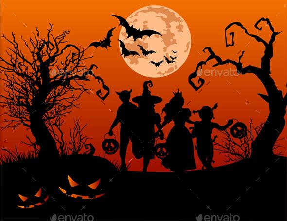Halloween Children  - Halloween Seasons/Holidays