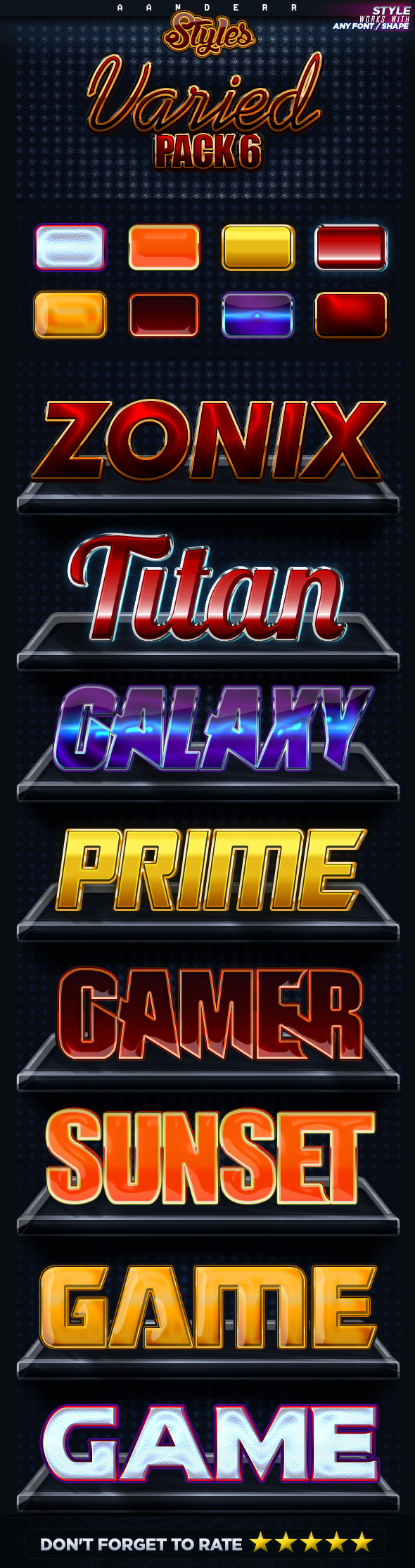 Varied Styles 6 - Text Effects Styles