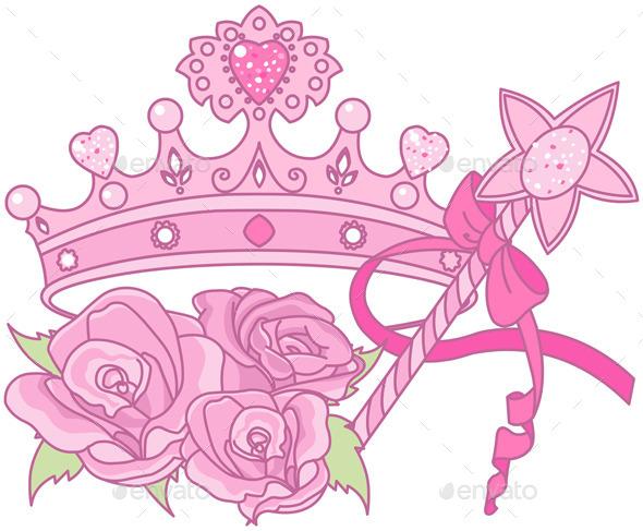 Princess Crown  - Decorative Symbols Decorative