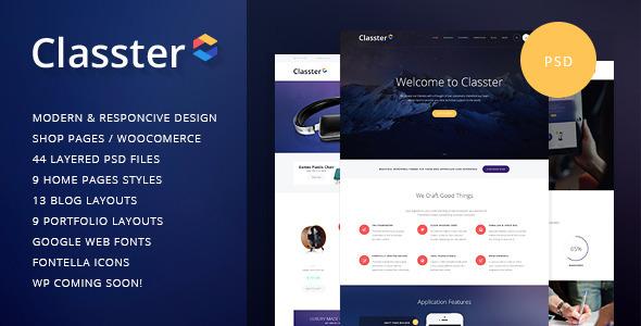 Classter | Multi-Purpose PSD Template - Corporate PSD Templates
