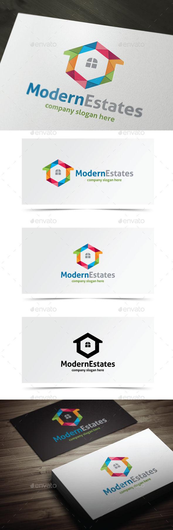 Modern Estates - Buildings Logo Templates
