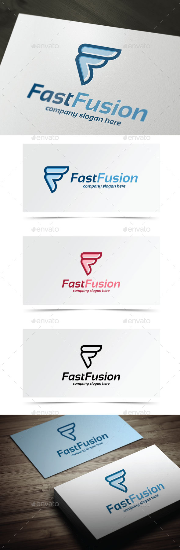 Fast Fusion - Letters Logo Templates