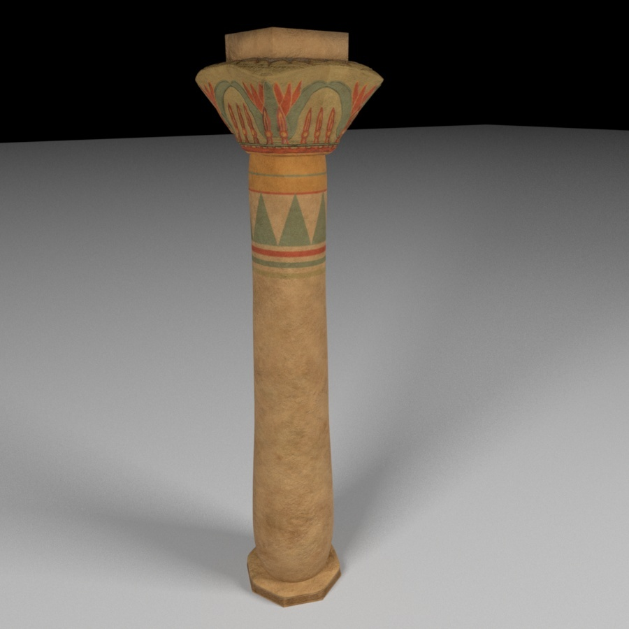 Ancient Egyptian Pillar By Ahashem 3docean