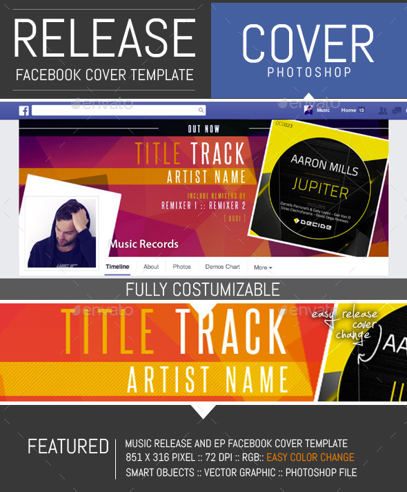 Dj release facebook timeline cover template by dogmadesign for Music artist press release template