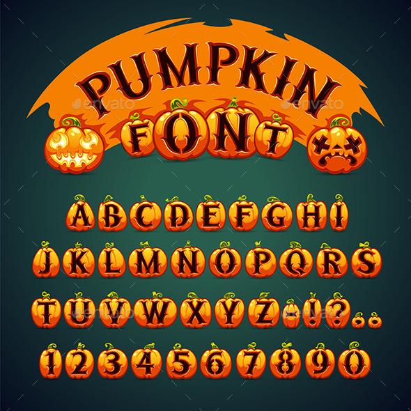 Halloween Pumpkin Font - Halloween Seasons/Holidays