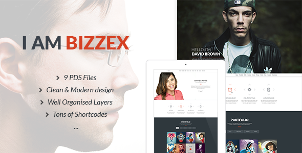 Bizzex – Modern Flat Portfolio Theme