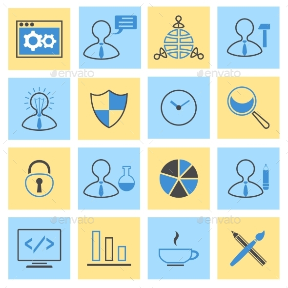 SEO Flat Icons Set - Web Icons