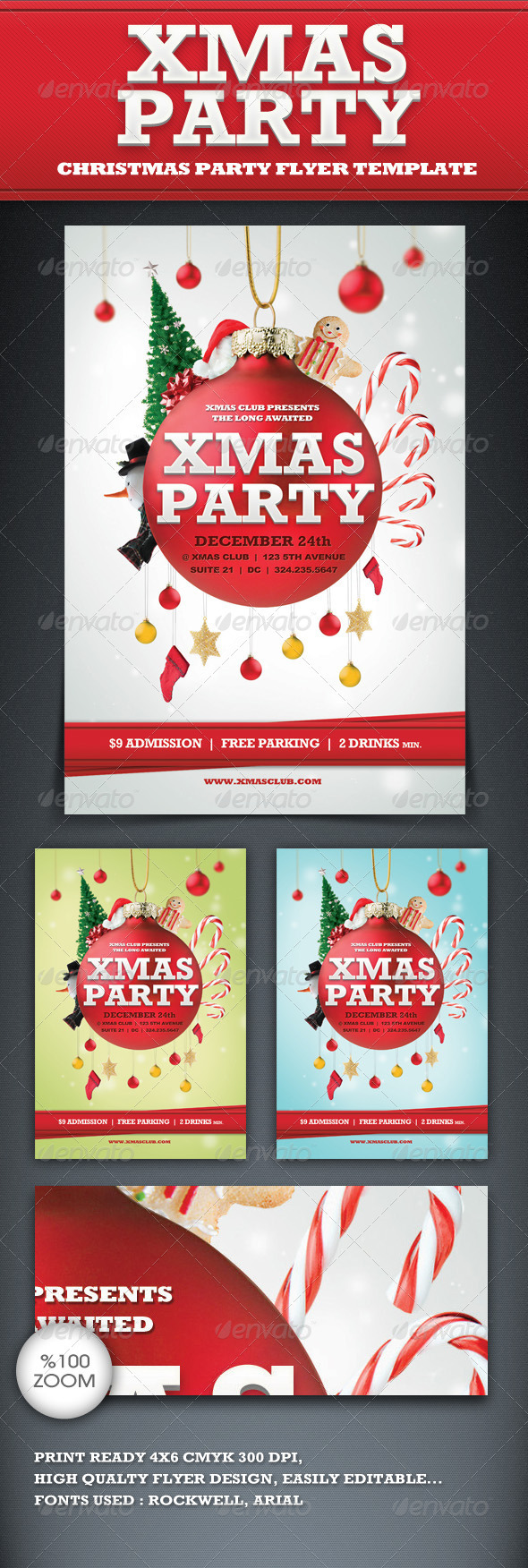 Xmas Party Flyer Template - Clubs & Parties Events