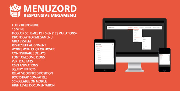 Menuzord - Responsive Megamenu - CodeCanyon Item for Sale