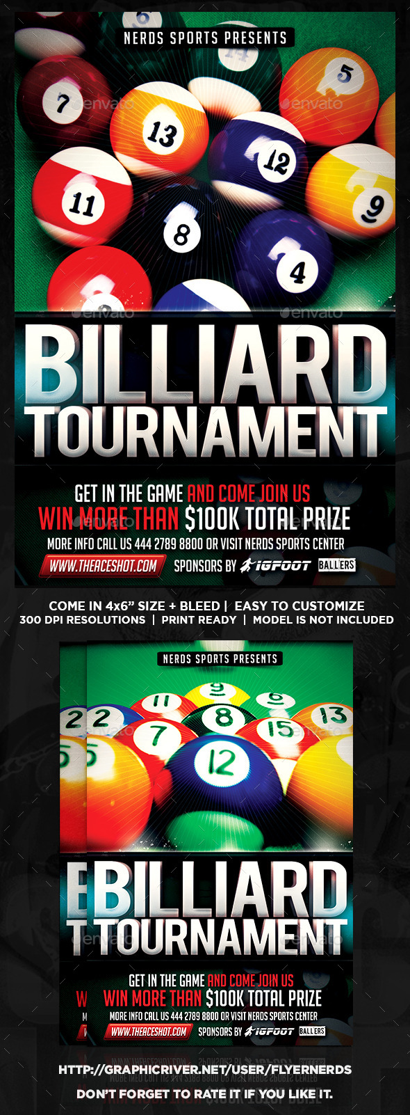 Billiard Competition Sport Flyer - Sports Events